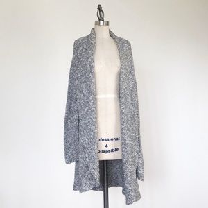 EILEEN FISHER | Gray Cotton Knit Cardigan